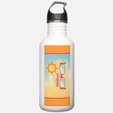 Personalized Beach Gla Sports Water Bottle