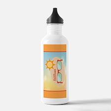Personalized Beach Gla Water Bottle