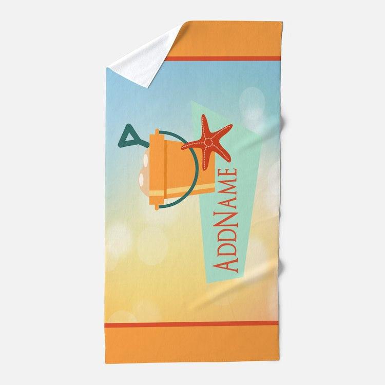 Personalized Beach Starfish Beach Towel
