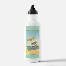 Summer Beach Umbrella Water Bottle