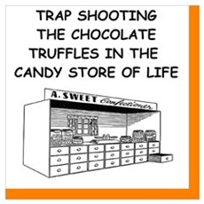trap shooting joke Canvas Art