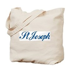 St Joseph (cursive) Tote Bag