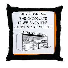 equestrian joke Throw Pillow