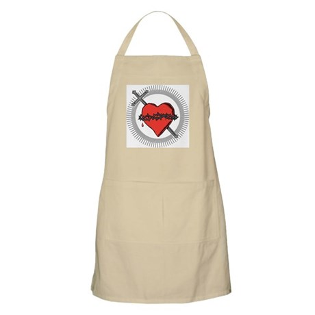 Sacred Heart BBQ Apron