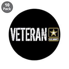"""U.S. Army Veteran 3.5"""" Button (10 pack)"""