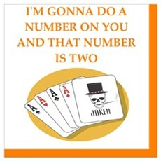 card player joke on gifts and t-shirts. Poster
