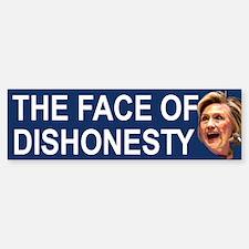 The Face Of Dishonesty Bumper Bumper Bumper Sticker