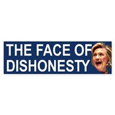 The Face Of Dishonesty Bumper Car Sticker