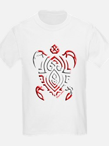 Tribal Turtle Scuba Flag T-Shirt