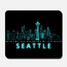 Digital Cityscape: Seattle, Washington Mousepad