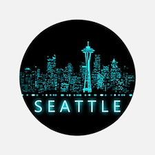 Digital Cityscape: Seattle, Washington Button