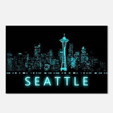Digital Cityscape: Seattl Postcards (Package of 8)