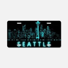 Digital Cityscape: Seattle, Aluminum License Plate