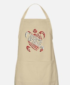 Tribal Turtle Scuba Flag Apron