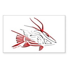 Tribal Hogfish Scuba Flag Decal