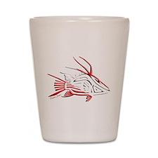 Tribal Hogfish Scuba Flag Shot Glass