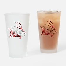 Tribal Hogfish Scuba Flag Drinking Glass