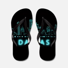 Digital Cityscape: Dallas, Texas Flip Flops
