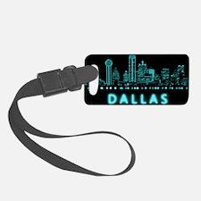 Digital Cityscape: Dallas, Texas Luggage Tag