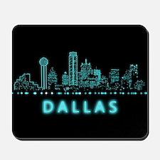 Digital Cityscape: Dallas, Texas Mousepad
