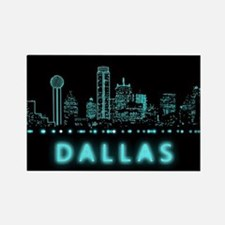 Digital Cityscape: Dallas, Texas Rectangle Magnet