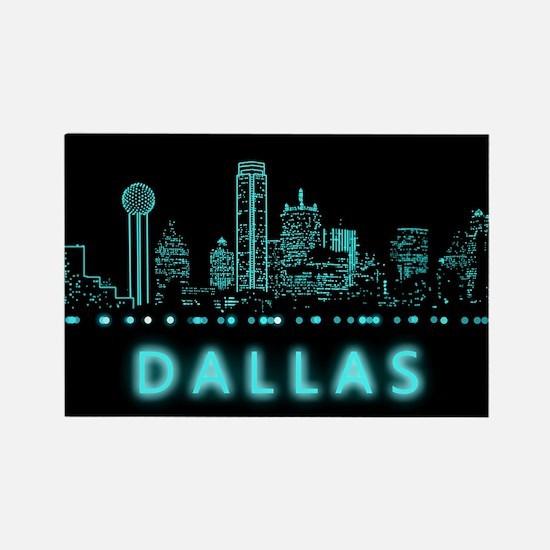 Digital Cityscape: Dallas, Texas Rectangle Magnet
