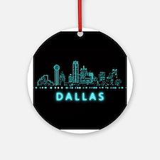 Digital Cityscape: Dallas, Texas Round Ornament