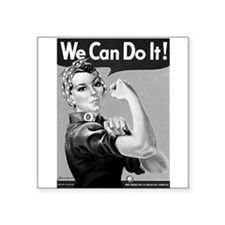 "Cute Rosie riveter Square Sticker 3"" x 3"""