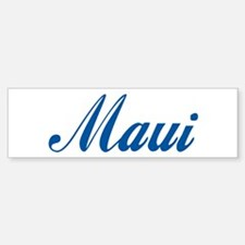 Maui (cursive) Bumper Bumper Bumper Sticker