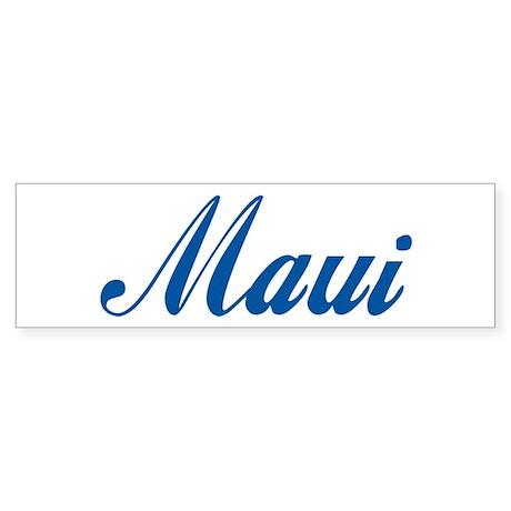 Maui (cursive) Bumper Sticker