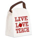 Teacher Canvas Lunch Bag