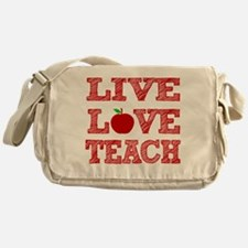 Live, Love, Teach Messenger Bag