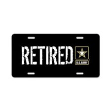 U.S. Army Retired Aluminum License Plate