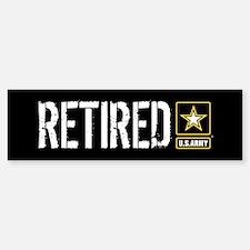 U.S. Army: Retired (Black) Bumper Bumper Sticker