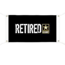 U.S. Army: Retired (Black) Banner