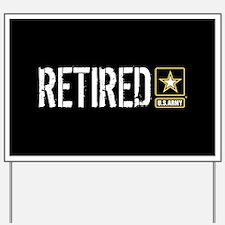 U.S. Army: Retired (Black) Yard Sign