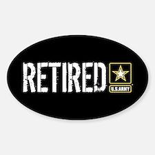 U.S. Army: Retired (Black) Decal