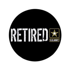"""U.S. Army Retired 3.5"""" Button (100 pack)"""
