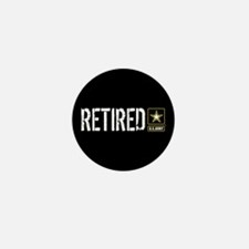 U.S. Army: Retired (Black) Mini Button (10 pack)