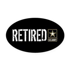 U.S. Army Retired Oval Car Magnet