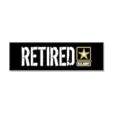 U.S. Army Retired Car Magnet 10 x 3