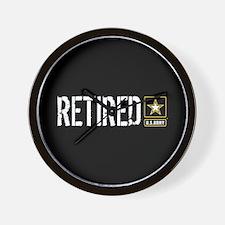 U.S. Army: Retired (Black) Wall Clock