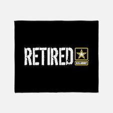 U.S. Army: Retired (Black) Throw Blanket