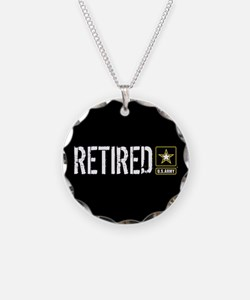 U.S. Army: Retired (Black) Necklace