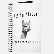 """""""Hug An Alpaca"""" Journal"""