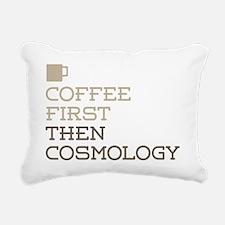 Coffee Then Cosmology Rectangular Canvas Pillow