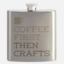 Coffee Then Crafts Flask