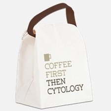 Coffee Then Cytology Canvas Lunch Bag