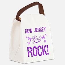 New Jersey Girls Rock Canvas Lunch Bag