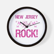 New Jersey Girls Rock Wall Clock